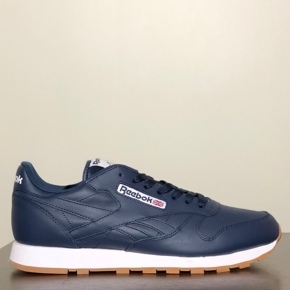 698447487636 Reebok Other - Reebok Classic Leather Grade-School - Navy White